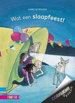 Boekomslag van 'Zoeklicht dyslexie - Wat een slaapfeest!'