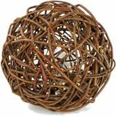 Verlichte wilgenbol met 40 batterij-aangedreven LED-verlichting geschikt voor binnen, wilgbal, wilgenbal, diameter: 20 cm