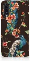 Samsung Galaxy A50 Standcase Hoesje Design Pauw met Bloemen