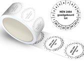 Keuringssticker NEN 2484 goedgekeurd tot  Ø 30 mm - 400 stuks (op rol)