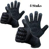 4 BBQ handschoenen  (gemaakt van Aramide en Kevlar) tot 500 graden Celsius (EN407)