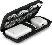 Harde schijf tas - 2,5 inch - powerbank case - Accessoire & kabel organizer tas - zwart