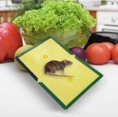 Plakkerige muizenval - Sticky glue trap - Muizen lijmplank - Muizenval - Ongediertebestrijding - muis / rat lijm tablet levend - Knaagdieren
