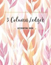 3 Column Ledger Accounting Book
