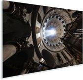 Prachtige zonnestraal door het gat van de koepel in de Heilig Grafkerk Plexiglas 30x20 cm - klein - Foto print op Glas (Plexiglas wanddecoratie)