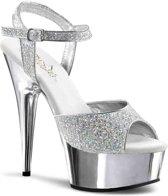 Pleaser Hoge hakken -41 Shoes- DELIGHT-609-5G Zilverkleurig