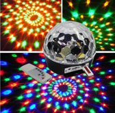 RGB Stage Light LED Crystal Magic Ball met Afstandbediening