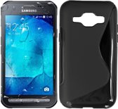 S Line Case  TPU Siliconen Hoesje Samsung Xcover 3 - Zwart