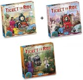 Spel - Ticket to Ride - Ultieme Uitbreidingsset - Map Collection - World 3 stuks