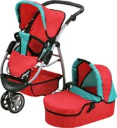 Knorrtoys cico rood 2in1 combi poppenwagen