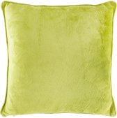 Dutch Decor Velvet - Sierkussen - 45x45 cm - Lime