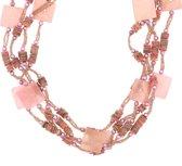 Behave® roze schelpen ketting 70 cm