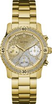 GUESS Watches -  W0774L5 -  horloge -  Vrouwen -  RVS - Goudkleurig -  38  mm
