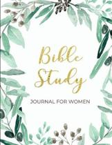 Bible Study Journal for Women: Christian Women's Bible Study Notebook with Subtle, Floral Design - Daily Scripture Study, Prayer, and Praise - 4 Week