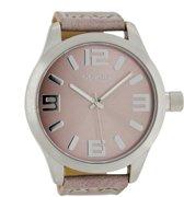 OOZOO Timepieces C1008 - Horloge - 50 mm - Leer - Roze