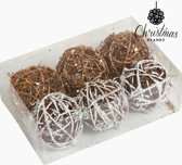 Kerstballen Wit Goud (6 pcs) by Homania