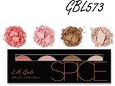 LA Girl Pro Beauty Brick Blush Palette Spice GBL573