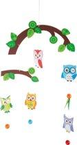 Houten mobiel - Uiltjes in de boom - Mobiel voor baby's - Geen muziekmobiel - Eenvoudig te monteren!