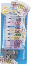 Speelgoed kassa Euro speelgeld 90 delig - Speelgoed munten en biljetten