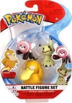 Afbeelding van Pokémon Battle Speelfiguren - Stufful 5 cm, Mimikyu 5 cm, Psyduck 8 cm