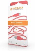 Hoge kwaliteit 3 meter lange micro USB kabel – Roze