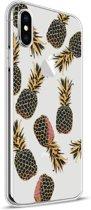Apple iPhone X Design TPU Hoesje - Pineapple