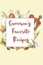 Cameron's Favorite Recipes