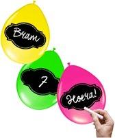 Neon ballonnen beschrijfbaar