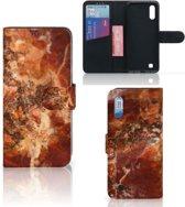 Bookcase Samsung Galaxy M10 Marmer Bruin