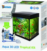SuperFish Aqua 30 LED Tropical Kit Aquarium - Zwart - 25-30L - 36 x 23 x 39 cm