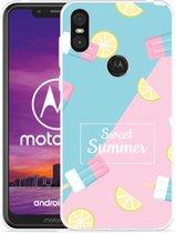 Motorola One Hoesje Sweet Summer