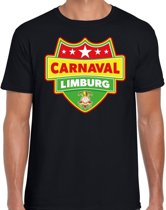 Carnaval verkleed t-shirt Limburg - zwart- heren - Limburgse feest shirt / verkleedkleding XL
