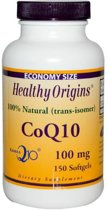 CoQ10 100 mg (150 gelcapsules) - Healthy Origins