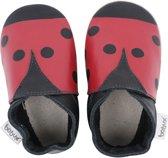 Bobux babyslofjes Red & black ladybird Maat: S (11,2 cm)