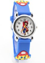 Hidzo Kinderhorloge Mario ø 30 mm - Blauw - Siliconen