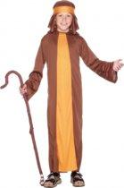 Bruin herders kostuum voor kinderen 122-134 (6-8 jaar)