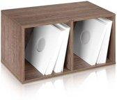 LP vinyl kast meubel voor 200 - 240 platen (walnoot)