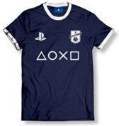 Playstation - FC Club Logo With Icons Men T-Shirt - Navy - XXL