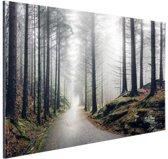 Mist in de bergen Aluminium 90x60 cm - Foto print op Aluminium (metaal wanddecoratie)