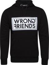 Wrong Friends AMSTERDAM HOODIE BLACK/WHITE