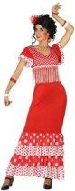 Spaanse flamencodanseres jurk rood verkleed kostuum  voor dames M/L (38-40)