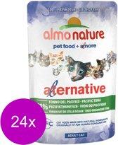 Almo Nature Hfc Cat Pouch Alternative 55 g - Kattenvoer - 24 x Tonijn Stille Oceaan Green