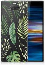 Sony Xperia 10 Uniek TPU Hoesje Leaves