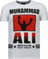Local Fanatic Muhammad Ali - Rhinestone T-shirt - Wit - Maten: S