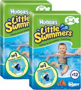 Huggies Little Swimmers Zwembroekjes maat 3-4 (7-15kg) 24 stuks (2x12)