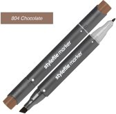 Stylefile Twin Marker - Chocolade - Deze hoge kwaliteit stift is ideaal voor designers, architecten, graffiti artiesten, cartoonisten, & ontwerp studenten