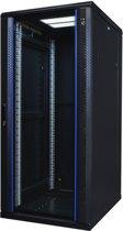 Alfaco 27U Patchkast - 19'' met glazen voordeur, (BxDxH) 600x1000x1400mm