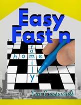 Easy Fast n Fun Crosswords: British Crossword Puzzles - Easy Cross Word Puzzles, Crossword Easy Puzzle Books, Crossword and Word Search Puzzle Boo
