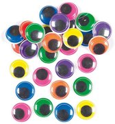 Jumboverpakking gekleurde wiebeloogjes  (60 stuks per verpakking)