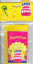 Uitnodigingen Taart